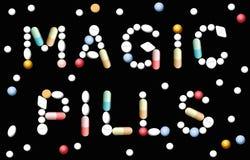 Medicina magica delle pillole Fotografia Stock