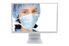 Medicina na linha Imagens de Stock