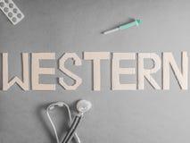Medicina occidentale Immagini Stock