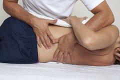 Medicina osteopatica Immagini Stock Libere da Diritti
