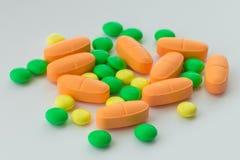 Medicina, píldoras, primer, foto imagen de archivo