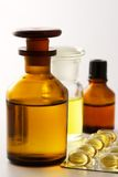 Medicina-píldoras y mezclas. Foto de archivo