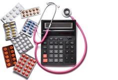 Medicina paga Drogas e comprimidos Copyspace imagens de stock