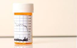 Medicina para o mercado de valores de acção Imagem de Stock Royalty Free