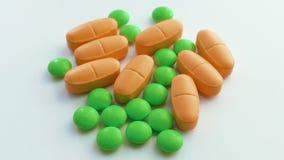 Medicina, pillole, primo piano archivi video