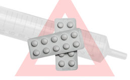 Medicina, seringa Fotos de Stock