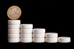 Medicina y dinero fotografía de archivo libre de regalías