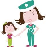 Medicina y niño Fotografía de archivo libre de regalías