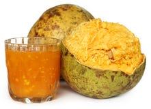 Medicinal Bael fruit with juice Stock Photography