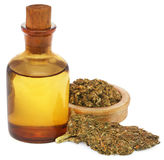 Medicinal cannabis with extract Stock Image