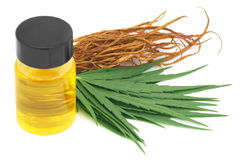 Medicinal cannabis with extract Royalty Free Stock Images