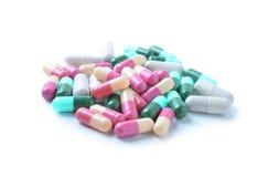 Medicinal capsules, pills Stock Photography
