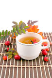 Medicinal decoction with hips Royalty Free Stock Images