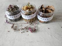 medicinal  dried herbs Royalty Free Stock Photos