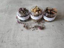 medicinal  dried herbs Stock Photos