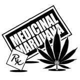 Medicinal Marijuana black and white icon Stock Images