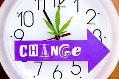 Medicinal Marijuana - Cannabis - Changing Times Royalty Free Stock Photos