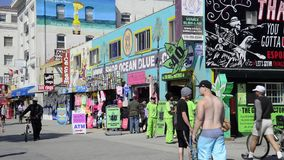 Medicinal marijuana store in Venice Beach stock video footage