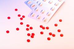 Medicinal pills. Piled up a bunch of closeup Stock Images