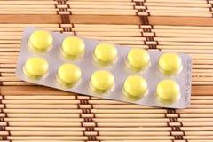 Medicinal pills piled up a bunch of closeup Royalty Free Stock Photo