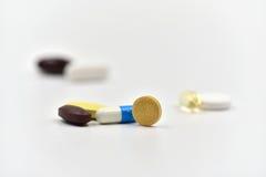 Medicinas aisladas Fotografía de archivo libre de regalías