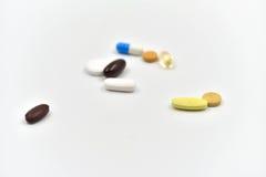 Medicinas aisladas Fotos de archivo