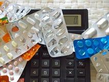 Medicinas caras Foto de Stock