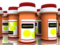 Medicinas da hepatite Fotos de Stock Royalty Free