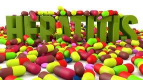 Medicinas da hepatite ilustração royalty free