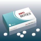 Medicinas de las píldoras de los antibióticos Fotografía de archivo libre de regalías