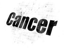 Medicinbegrepp: Cancer på Digital bakgrund royaltyfri illustrationer