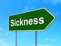 Medicinbegrepp: Sjukdom på vägmärkebakgrund Arkivfoto