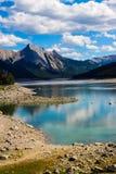 Medicine湖,贾斯珀国家公园 库存图片
