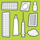 Medicine. Vector illustration of birth control medicine Royalty Free Stock Photography