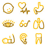 Medicine 2 icons Stock Images