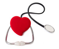 Medicine. Real medical test with stethoscope Stock Images