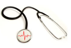 Medicine. Real medical test with stethoscope Royalty Free Stock Photos