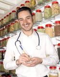 Medicine. Alternative medicine and the doctor Stock Photos
