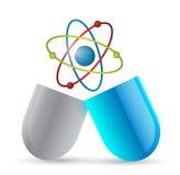 Medicine atom pill illustration design Royalty Free Stock Photography