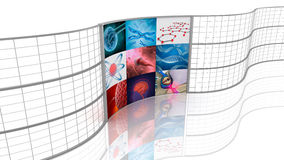 Medicine. Background displays. Royalty Free Stock Images