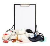 Medicine background medical tools Stock Images
