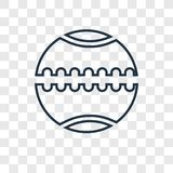 Medicine ball concept vector linear icon isolated on transparent vector illustration