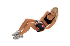 Medicine Ball Crunches Royalty Free Stock Photos