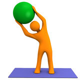 Medicine-ball de sport Photos libres de droits