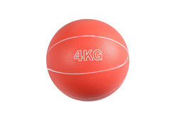 Medicine ball for fitness and muscle building Royalty Free Stock Photo