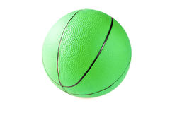 Medicine ball. Green medicine ball for fitness, muscle building, rehabilitation and games Stock Photo