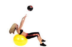 Medicine Ball Toss Stock Photo