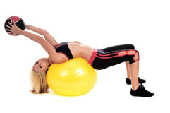 Medicine Ball Yoga Stock Image