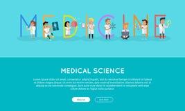 Medicine Banner. Science Alphabet. Royalty Free Stock Photos