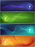 Medicine banners. Set of colorful medicine banners Royalty Free Stock Photos